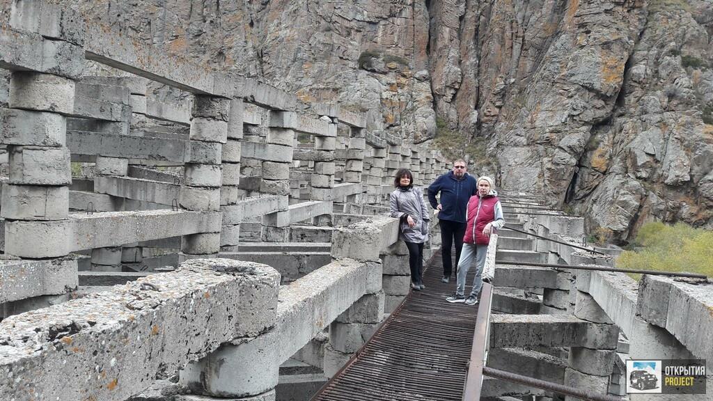 Противоселевая плотина в Иссыкском ущелье