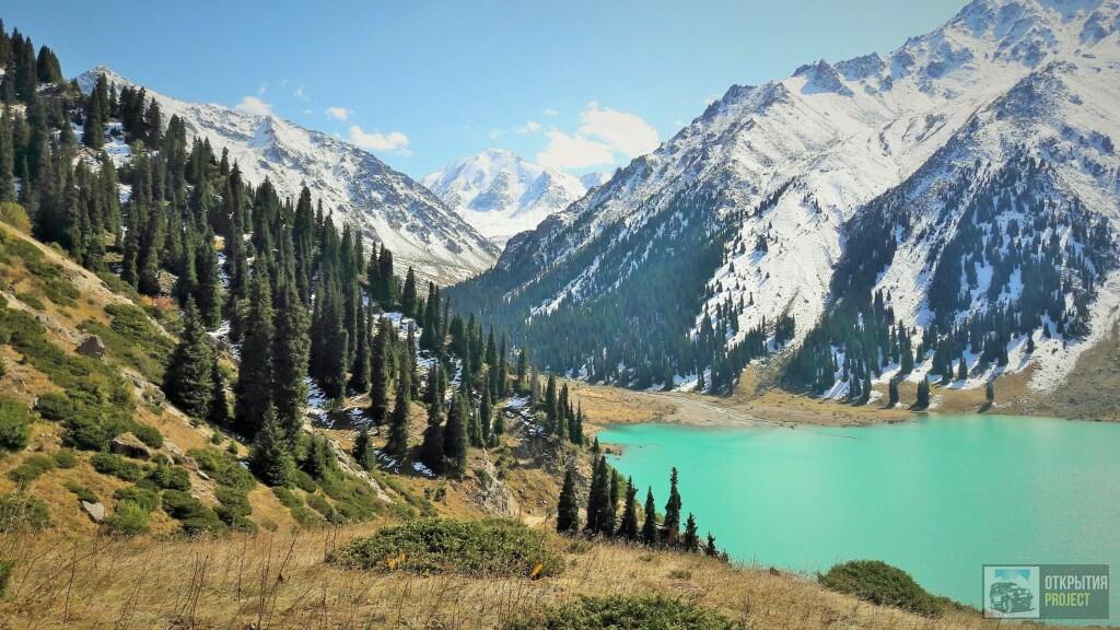 Большое Алматинское озеро осенью