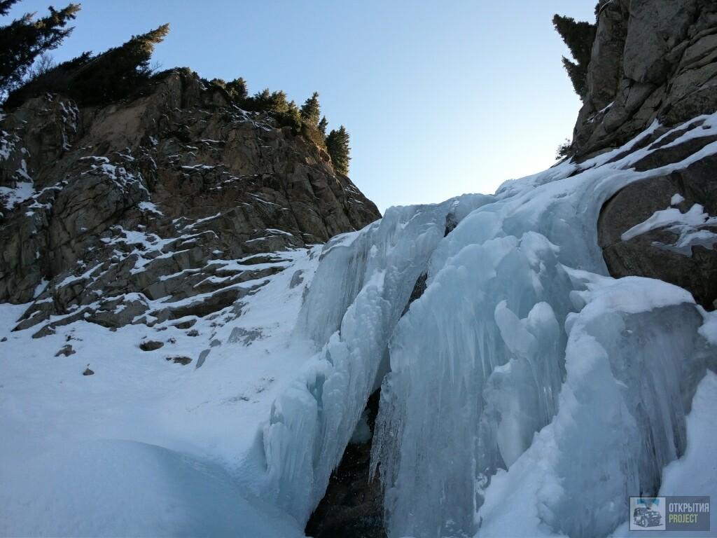 Водопад Чукур Зимой.otkryvai.kz