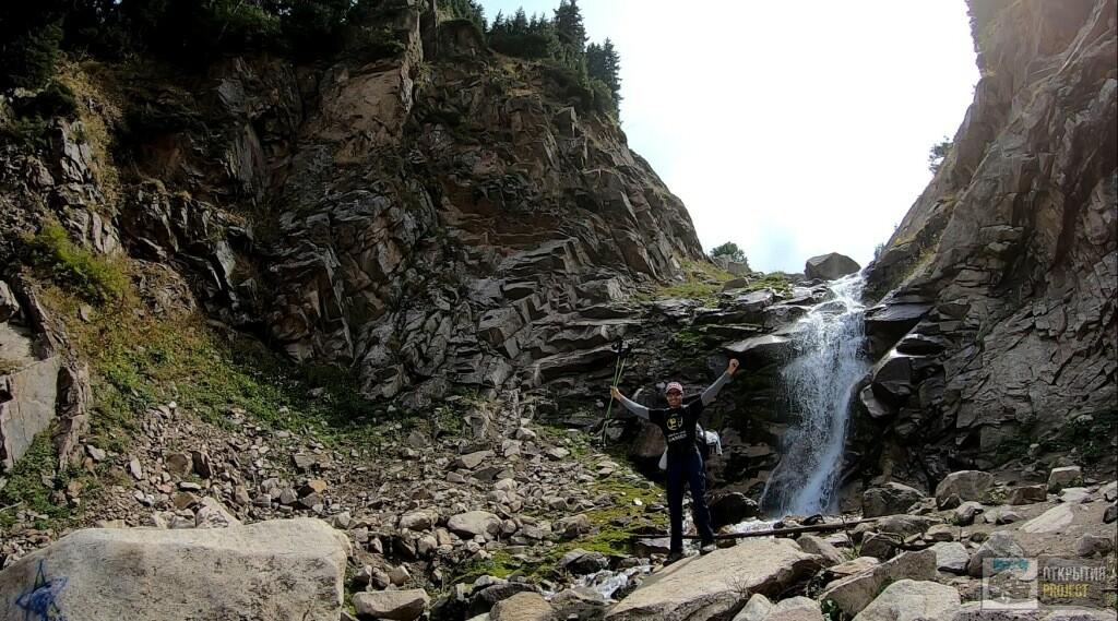 Павел Шитик на водопаде Шукур