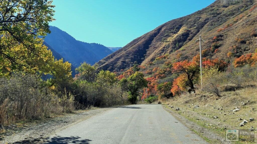 дорога в Тургенском ущелье