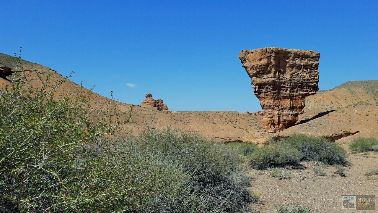 Чарынский каньон, правый берег