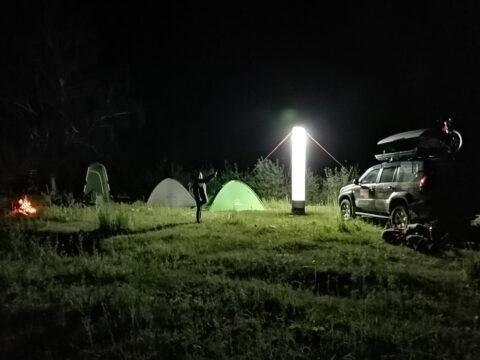 Палаточный лагерь на реке Усек