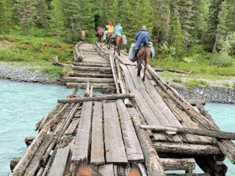 Казахстанский Алтай. Мост через Белую Берель